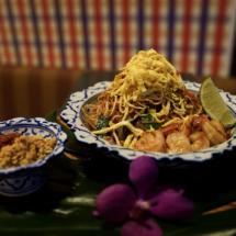 Pad Mee Lao Prawns